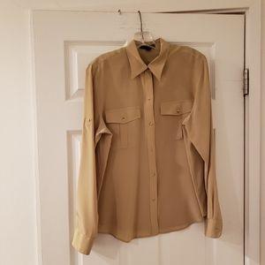 Lauren Ralph Lauren Silk Button Down Shirt